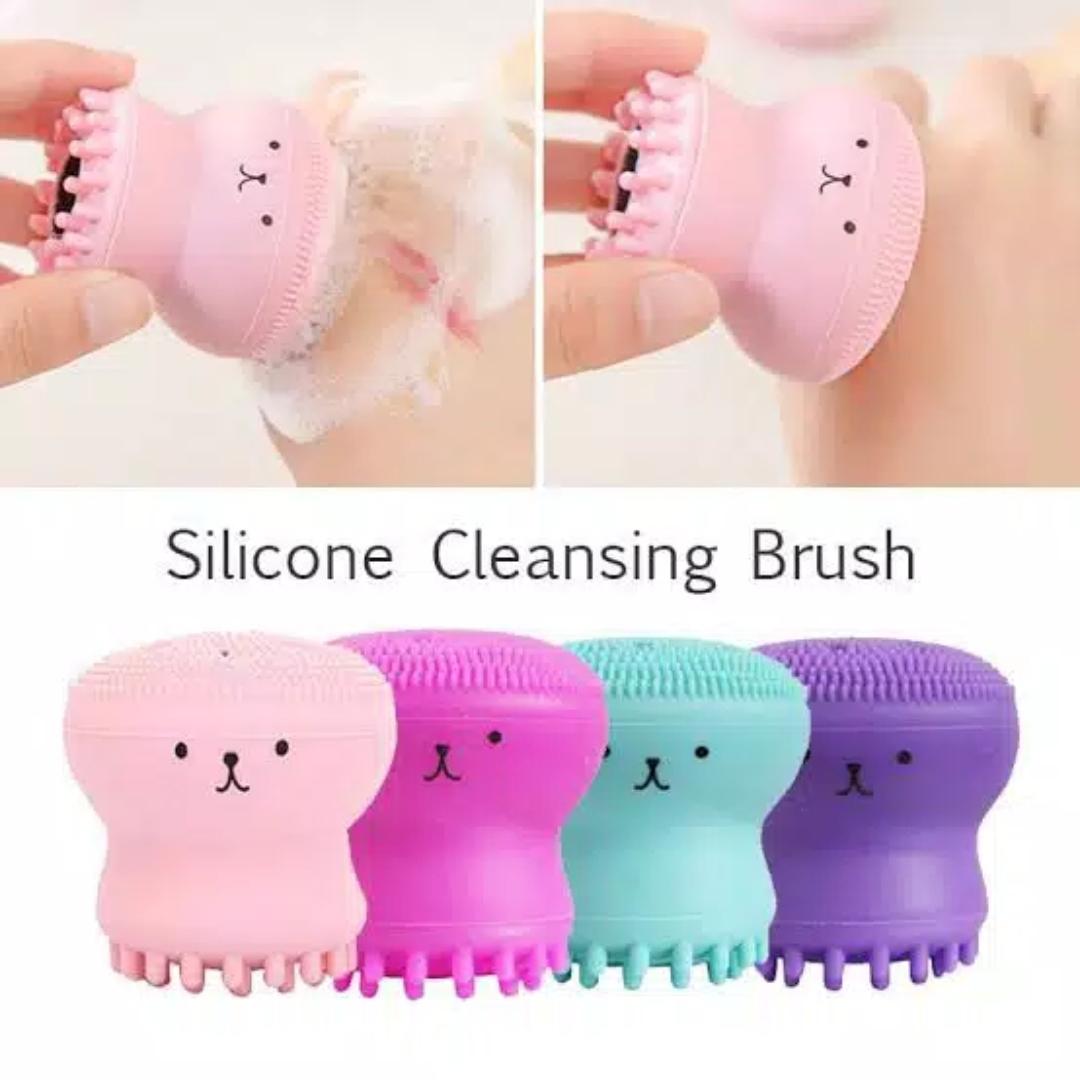 spons gurita facial pembersih wajah face washing brush spons thumbnail