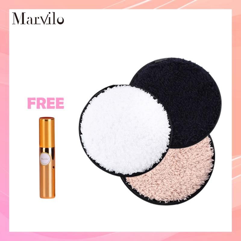 [BUY 3 GET 4] Marvilo Cotton Pad Makeup Remover Kapas Pembersih Wajah - Putih thumbnail