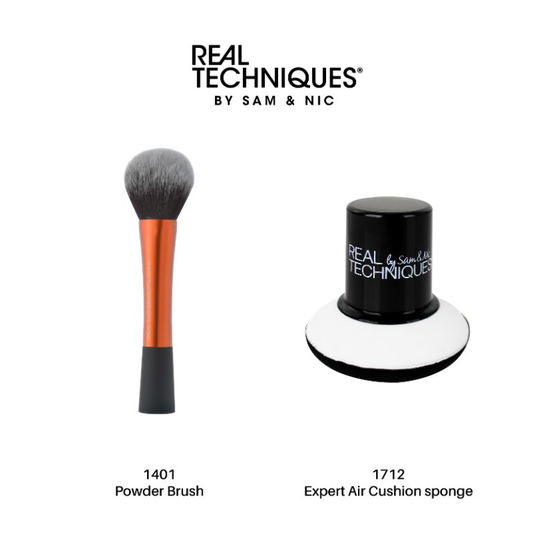 Real Techniques Combo Sale Powder Brush + Expert air cushion sponge thumbnail