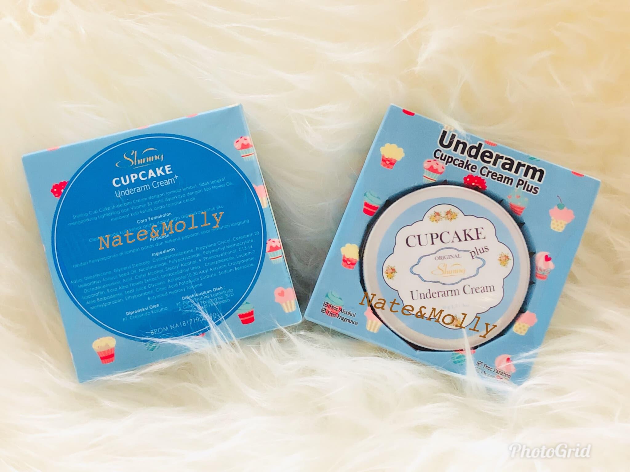 Jual Shining Cupcake Underarm Cream With Sun Flower Oil Cup Cake Plus Pemutih Ketiak Bpom Natemolly Tokopedia