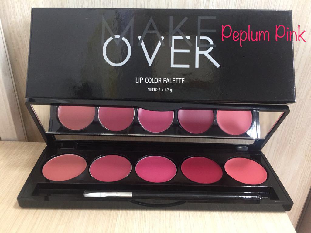 MakeOver Lip Color Palette 5 x 1,7 gr - 3 Varian thumbnail