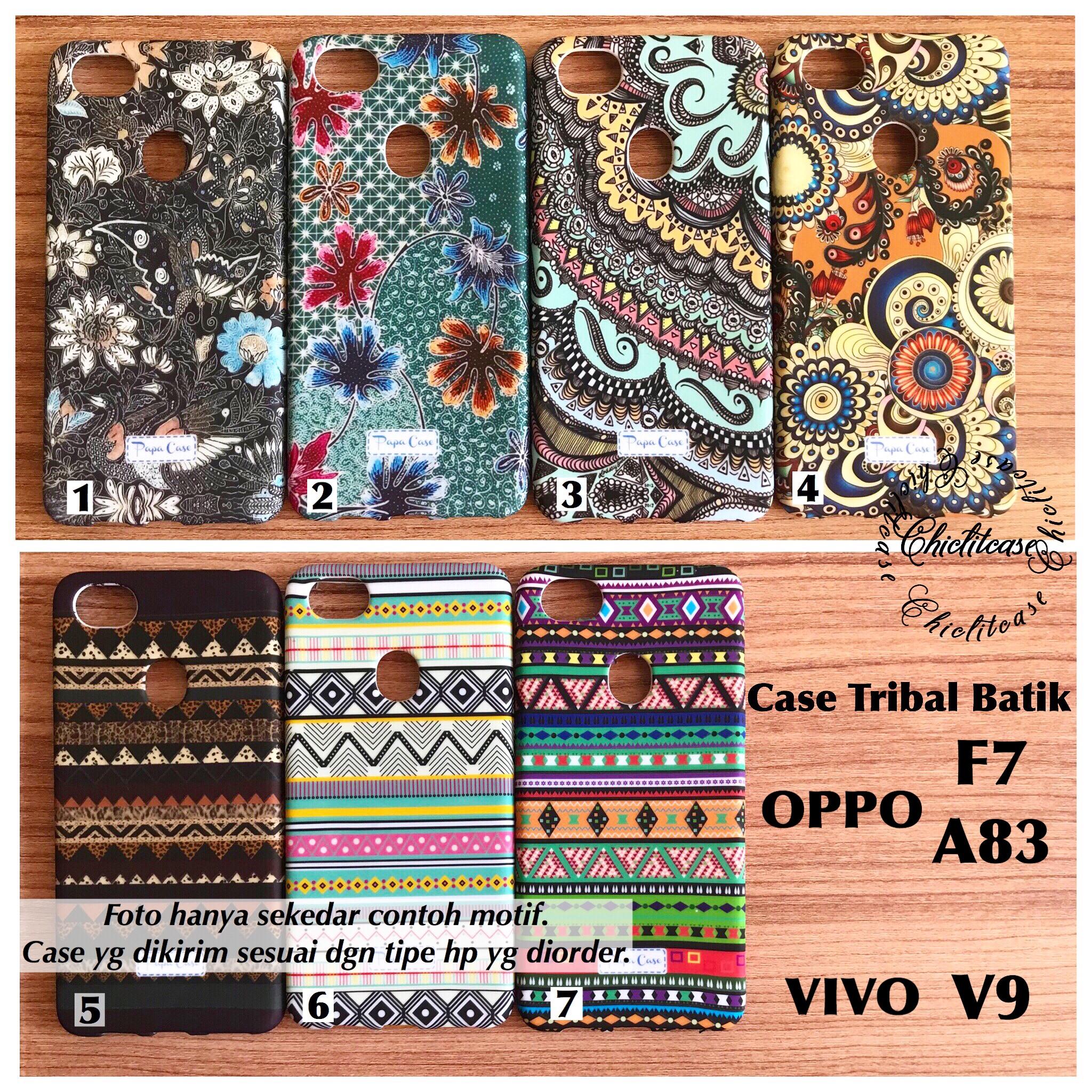 Jual Softcase Tribal Batik Oppo F7 A83 case Vivo V9 glow MURAH chic lit case