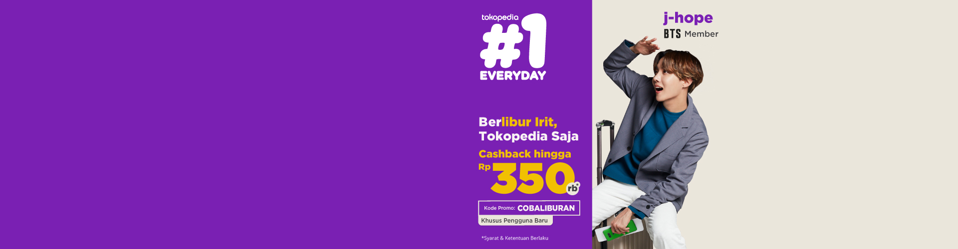 Khusus buat kamu pengguna baru, yuk beli tiket kereta di Tokopedia dan dapatkan cashback sampai 65ribu!