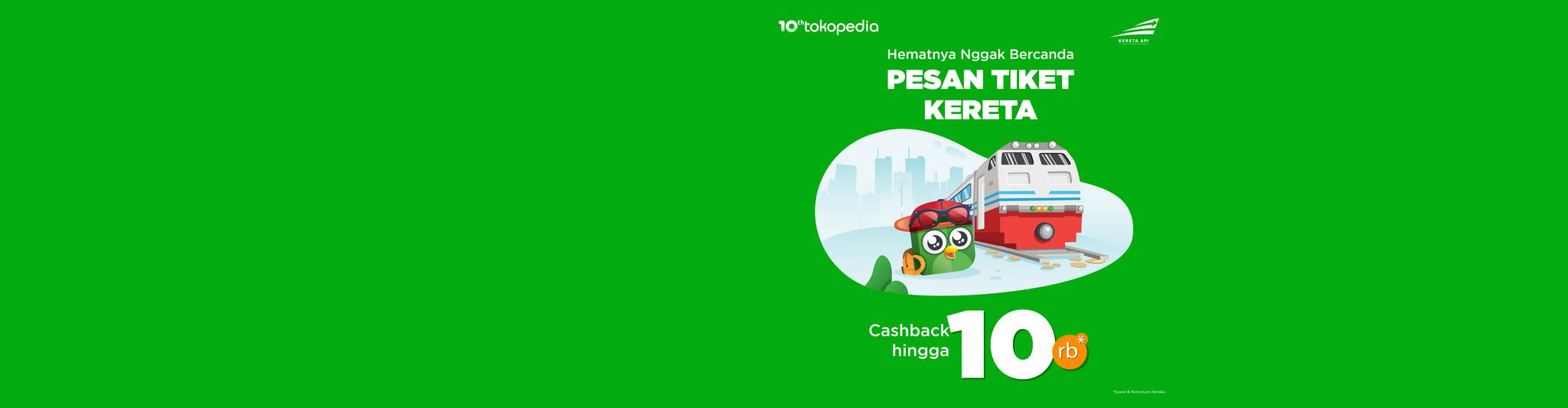 Hematnya Gak Bercanda! Dapatkan cashback 10rb pesan tiket kereta dengan KAI Pass. Beli vouchernya di sini yuk!