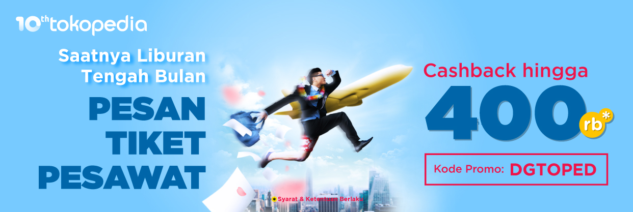Tiket Pesawat Murah Pesan Tiket Online Harga Promo Tokopedia