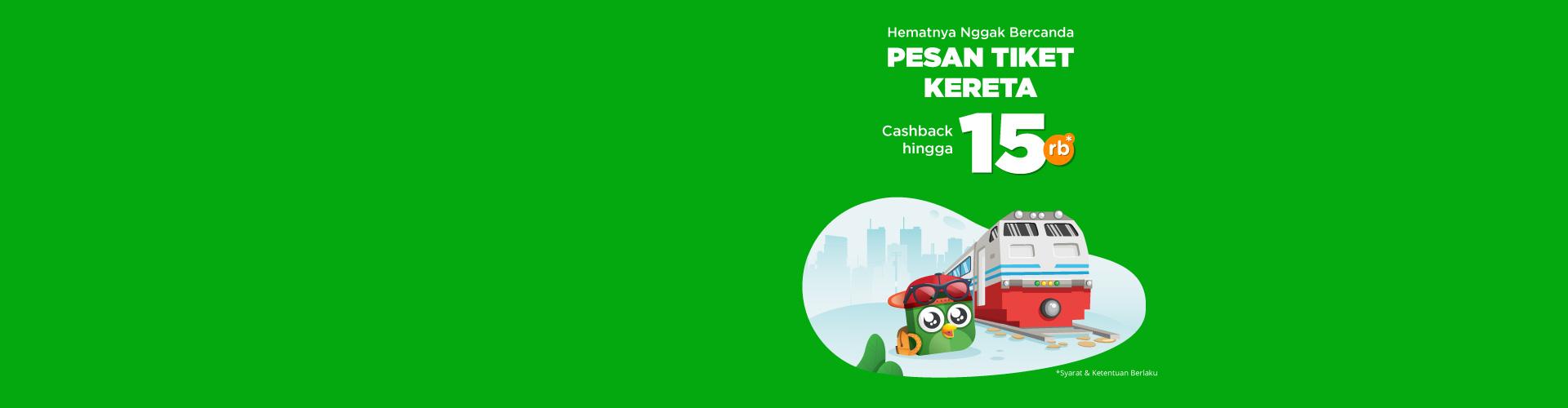 Hematnya Gak Bercanda! Dapatkan cashback 15rb pesan tiket kereta dengan KAI Pass. Beli vouchernya di sini yuk!