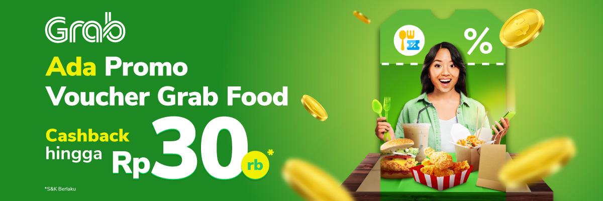 Makan enak ga harus mahal, Beli Voucher Grab Food di Tokopedia, makanan restoran bisa kamu nikmati di rumah. dapatkan cashback hingga Rp30.000