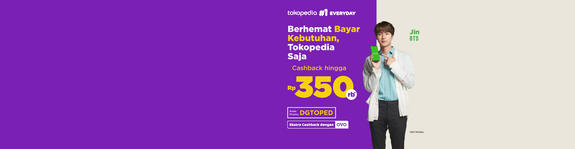 Dapatkan cashback up to 35rb!