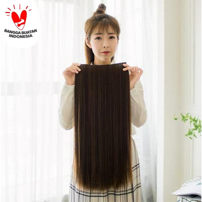 hairclip lurus panjang murah - Hitam thumbnail