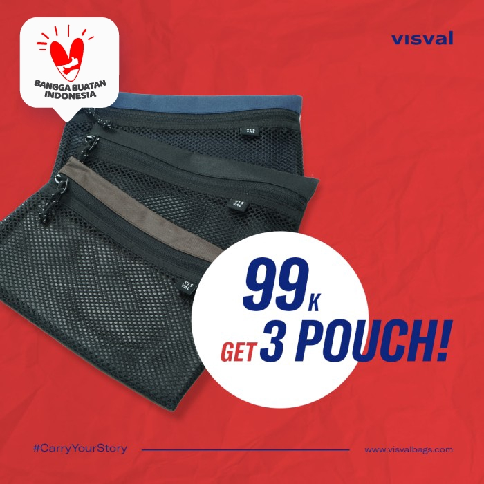 Pouch Basic Compliment - Visval - Hitam thumbnail