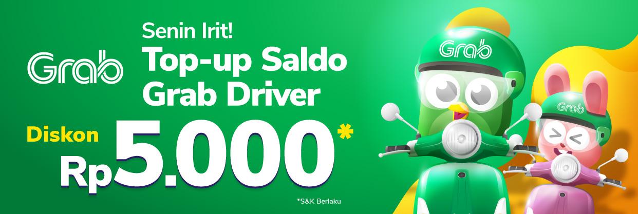 Beli Voucher Grab Driver Setiap Senin, dapat potongan 5rb!