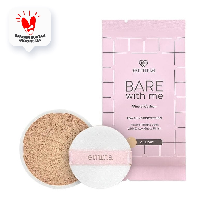 Emina Refill Bare With Me Mineral Cushion 01 Light 15 gr thumbnail