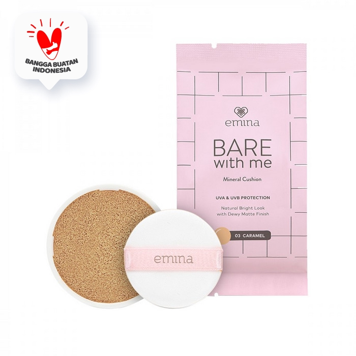 Emina Refill Bare With Me Mineral Cushion 03 Caramel 15 gr thumbnail