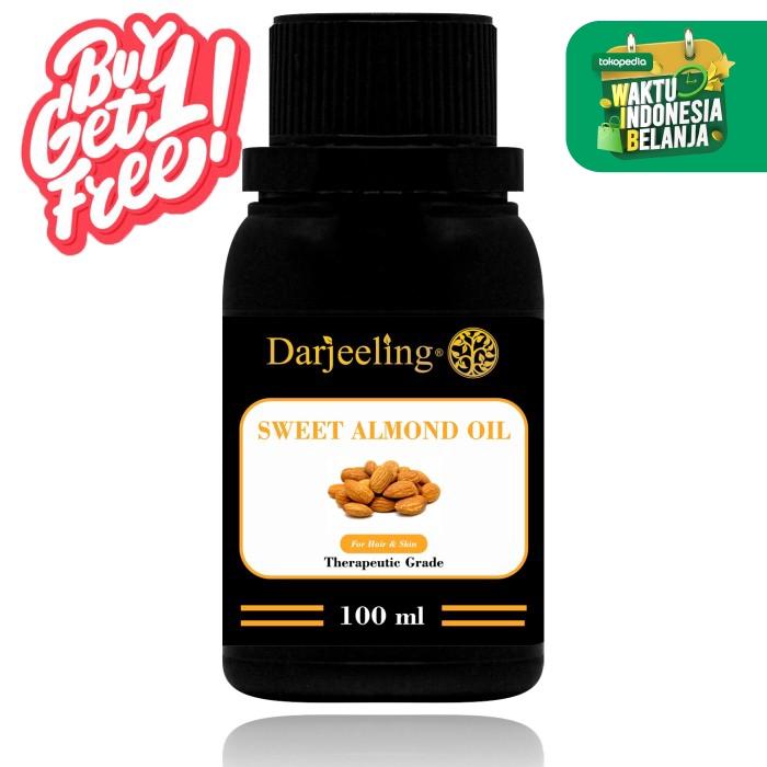 Buy 1 Get 1 Free 100ml Sweet Almond Oil Minyak Almond Carrier Oil thumbnail