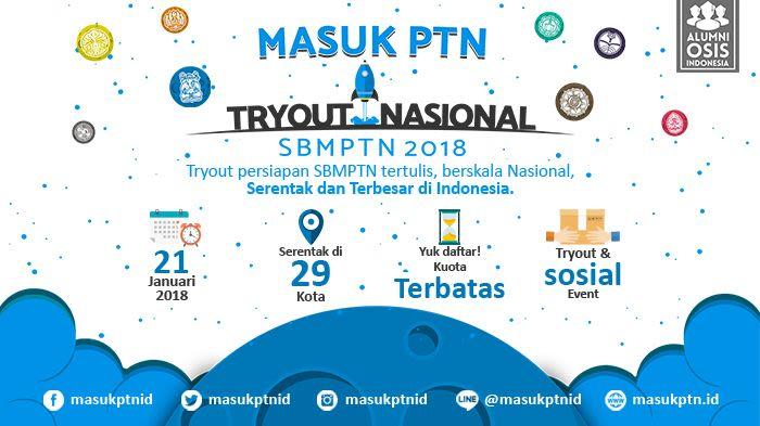 MASUK PTN TRYOUT NASIONAL (SBMPTN 2018)