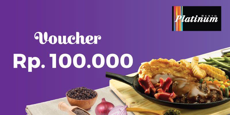 Voucher Value Platinum Resto Rp 100.000