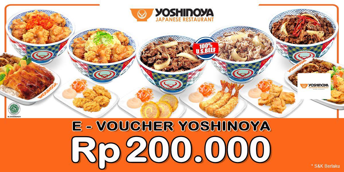 Voucher Yoshinoya Rp 200.000