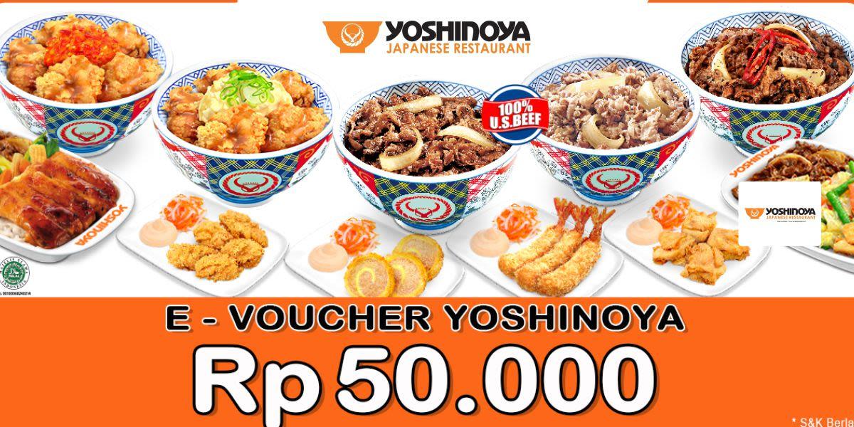 Voucher Yoshinoya Rp 50.000