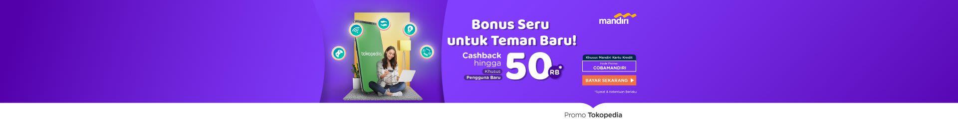 Bayar Produk Digital Cashback hingga Rp50.000*