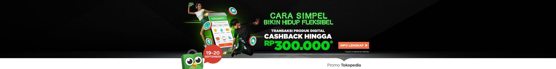 Bayar produk Digital sekarang dan dapatkan cashback hingga Rp300.000!