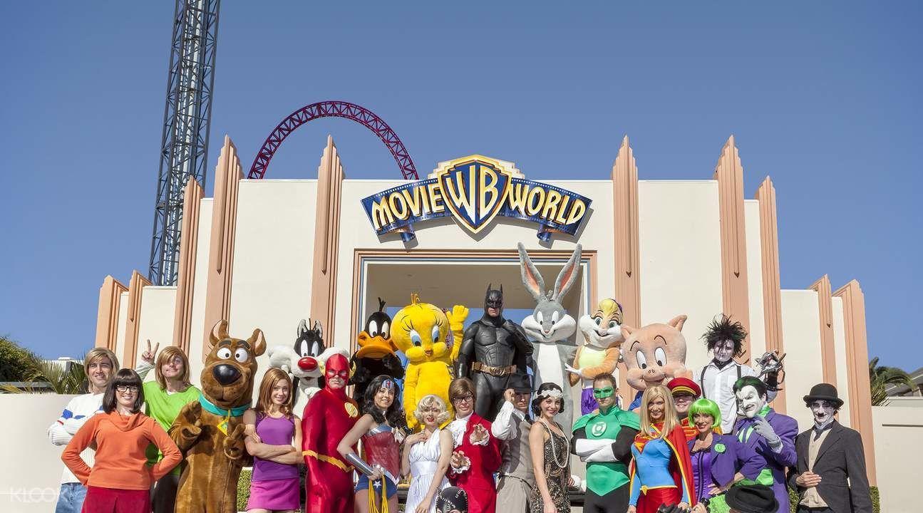 Warner Bros Movie World Entry Ticket - Background