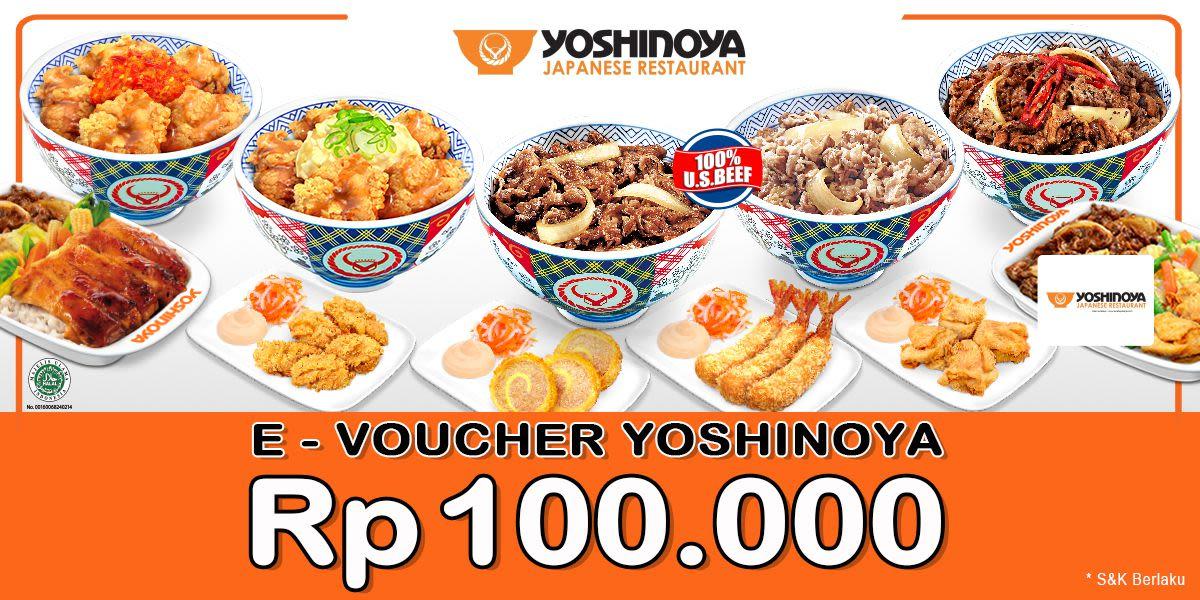 Voucher Yoshinoya Rp 100.000