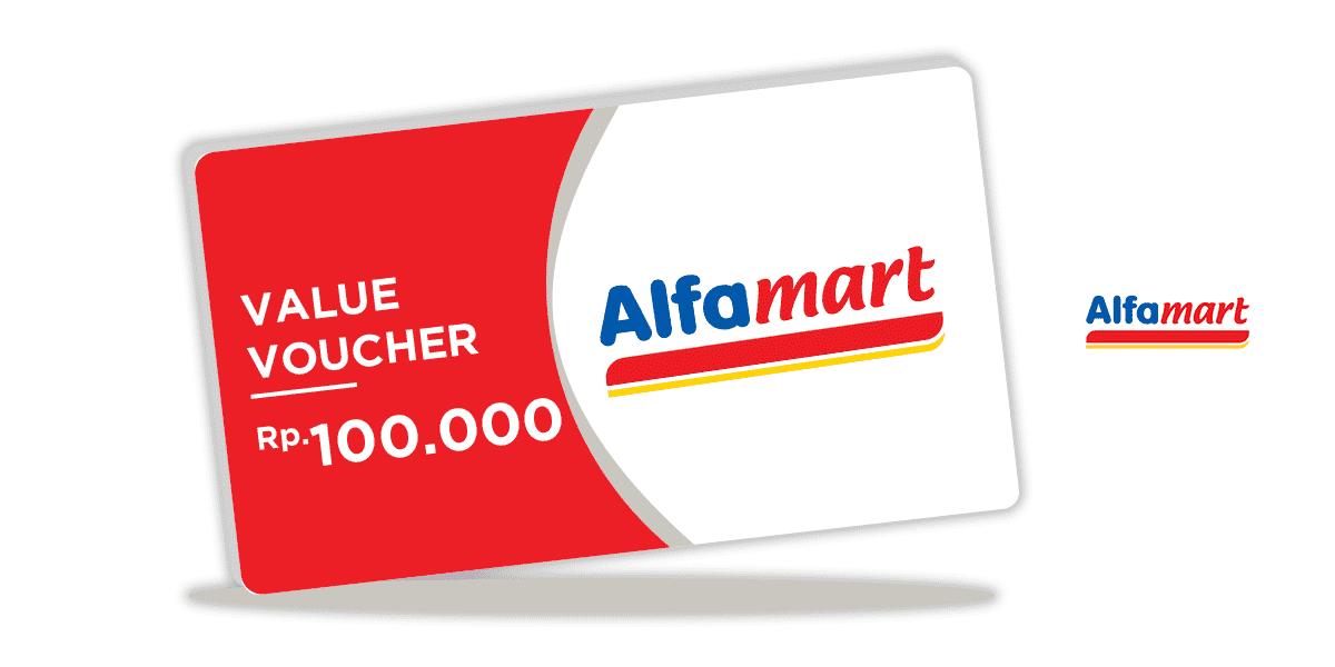 Voucher Alfamart Rp 100.000