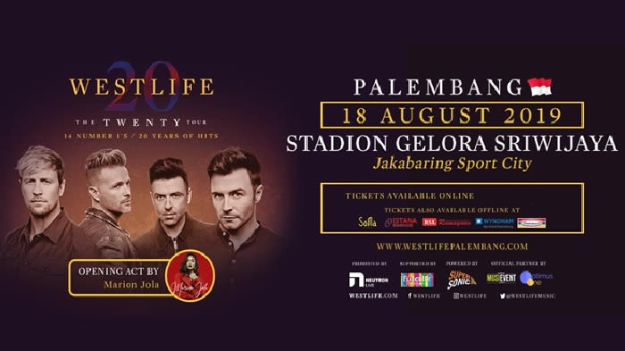 Westlife The Twenty Tour Jual Tiket Konser Promo Tokopedia