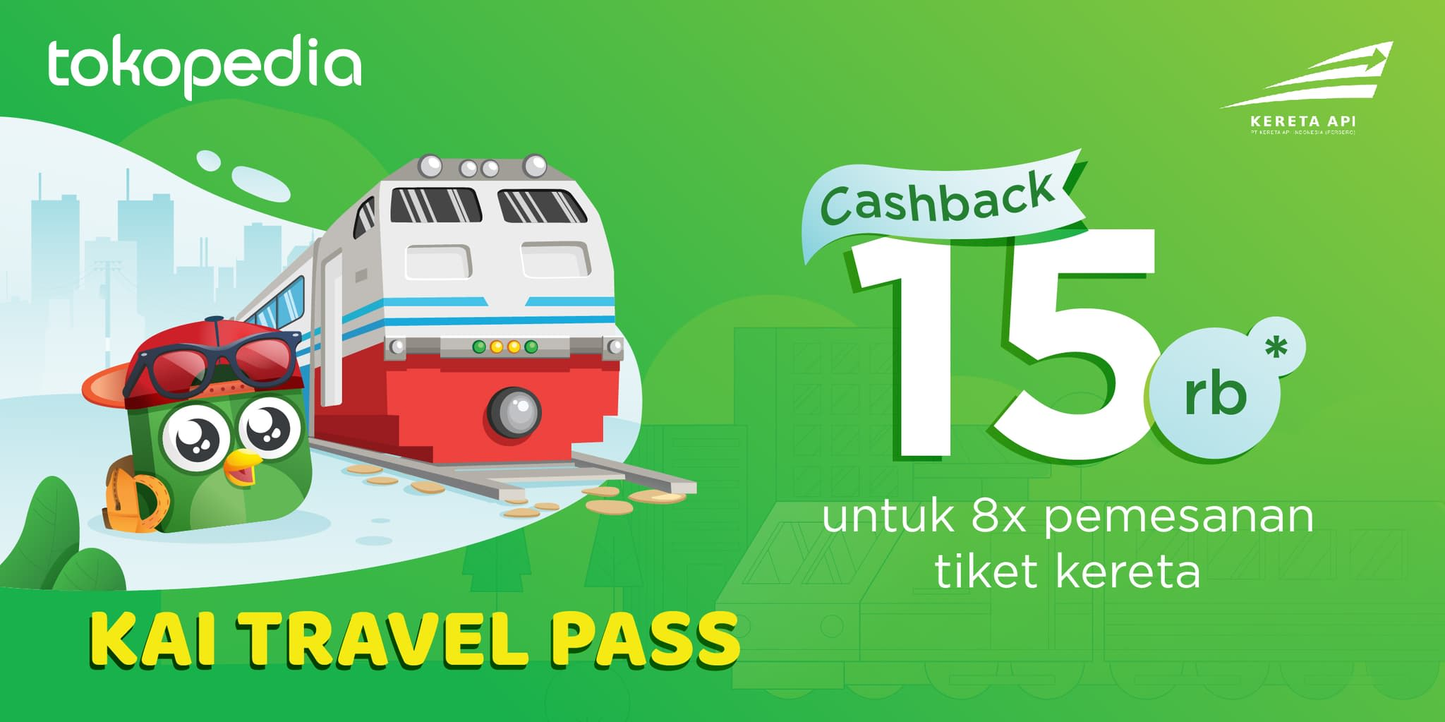 Tokopedia Travel - KAI Pass (8 Times Usage)