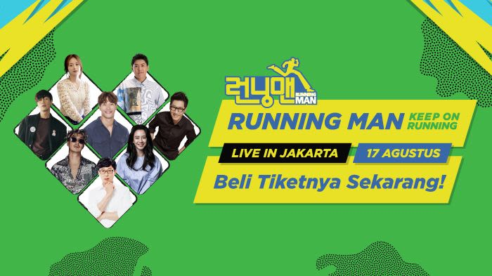 Running Man Keep On Running Live in Jakarta promoted by Tokopedia - Background