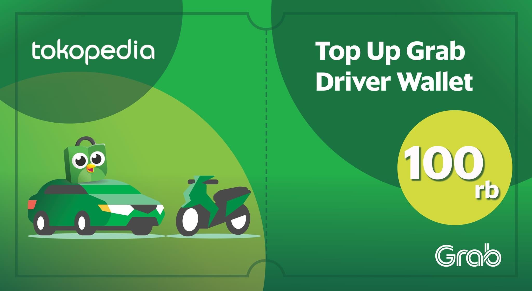 Grab Driver Wallet Rp 100.000 (Khusus Grab Driver)