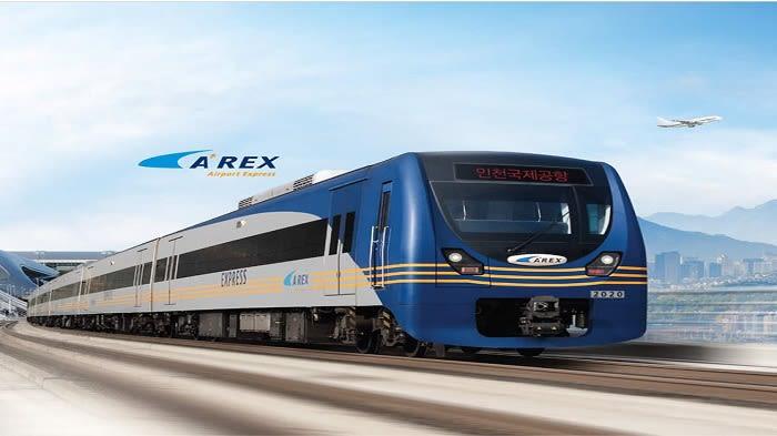 AREX Incheon Airport Express One Way Train Ticket - Background