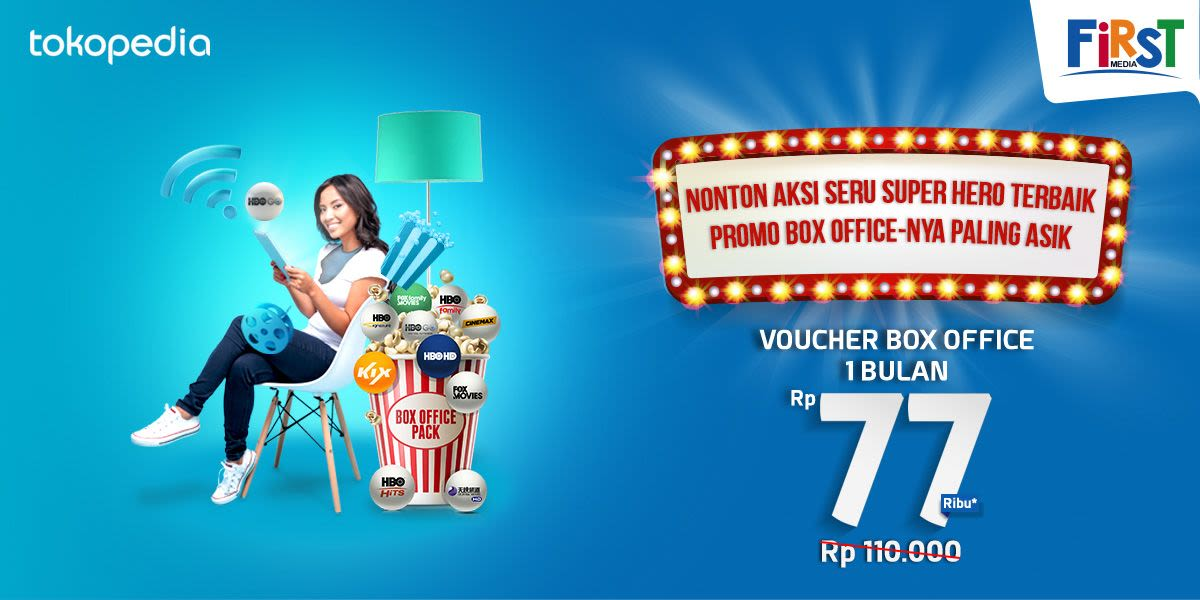 Voucher First Media Box Office 1 Bulan