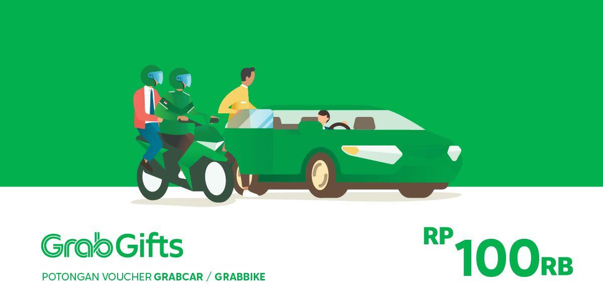 Voucher Grab Transportasi Rp 100.000 (khusus Pengguna Aplikasi Grab)