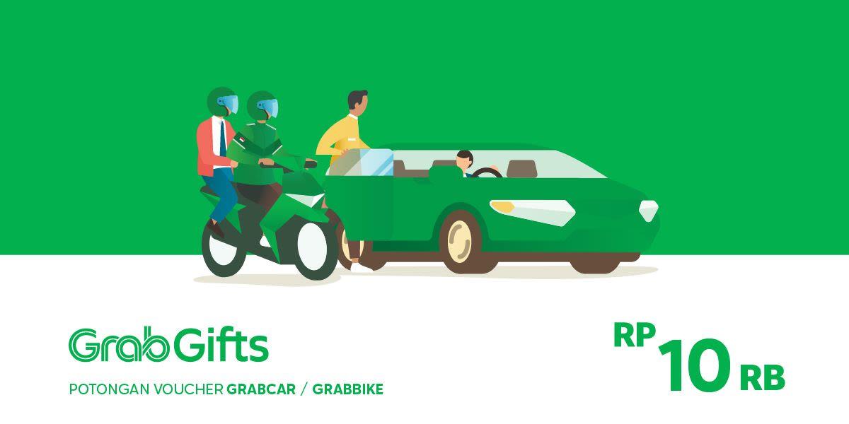 Voucher Grab Transportasi Rp 10.000 (khusus Pengguna Aplikasi Grab)