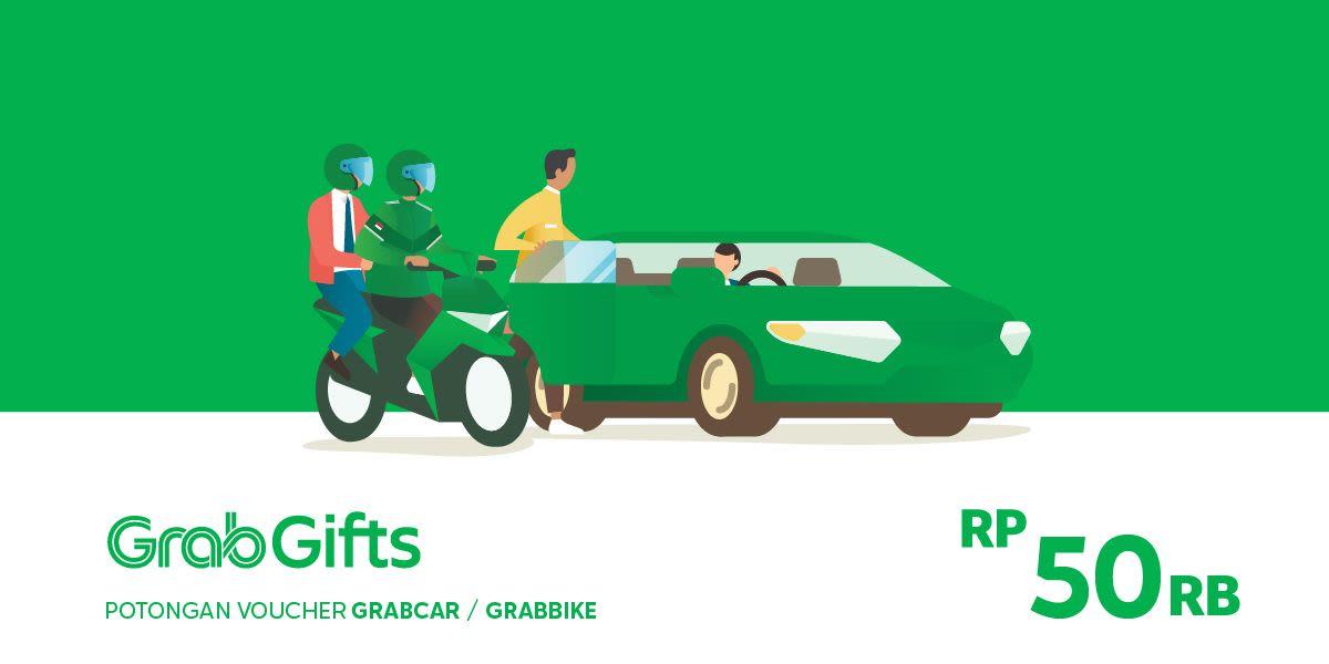 Voucher Grab Transportasi Rp 50.000 (khusus Pengguna Aplikasi Grab)