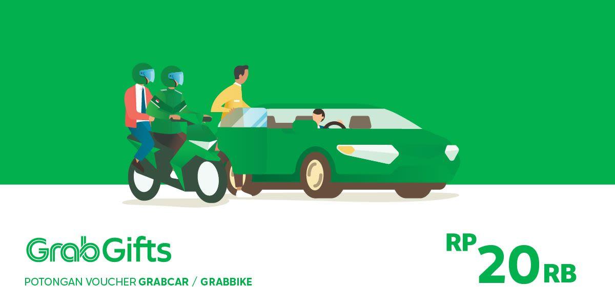 Voucher Grab Transportasi Rp 20.000 (khusus Pengguna Aplikasi Grab)