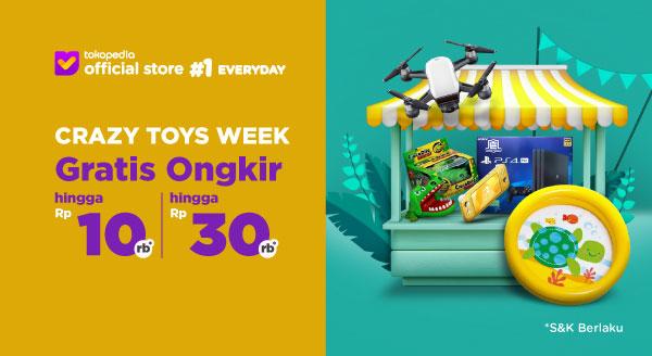 Harga Tambah Koleksi Mainanmu, Gratis Ongkir s.d Rp30 Ri