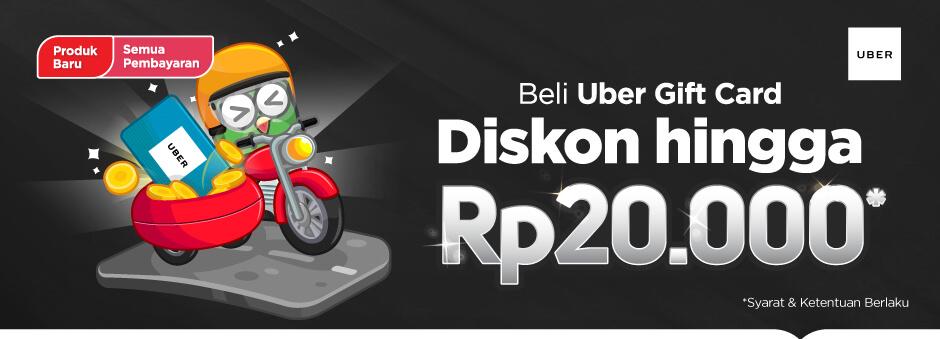 Diskon Tokopedia Uber Gift Card