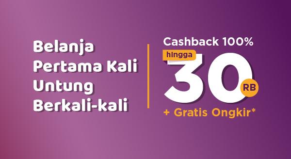 Mulai Belanja di Marketplace & Official Store Dapatkan Cashback 100% hingga Rp30.000 dan Gratis Ongkos Kirim Rp10.000