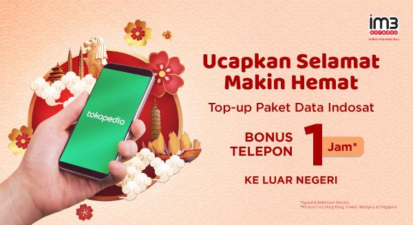 Top-up Paket Data Indosat, Bonus Telepon 1 Jam ke LN