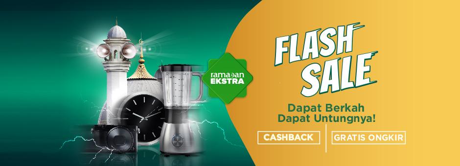 Flash Sale Tokopedia Dapatkan Cashback & Gratis Ongkir