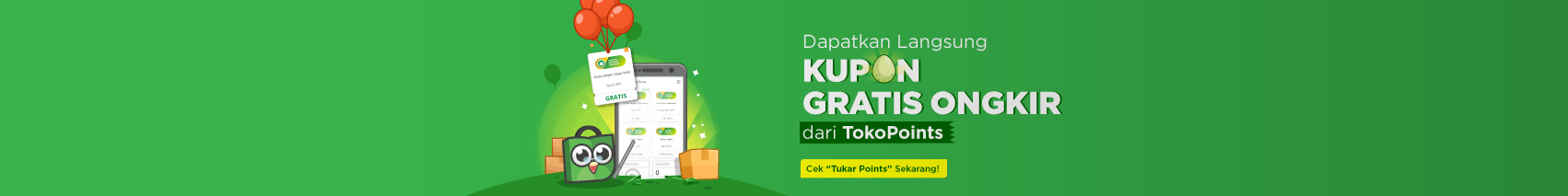 TokoPoints Free Shipping