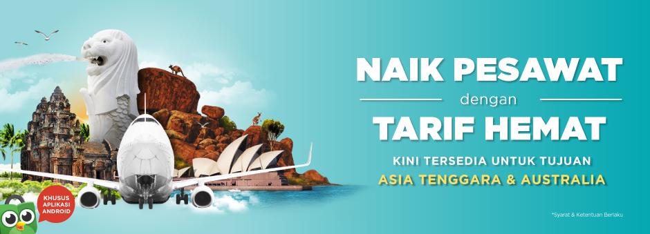 Kini Tiket Pesawat Tersedia untuk Jurusan Asia & Australia!