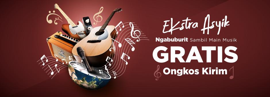 GRATIS Ongkir untuk Ngabuburit dengan Sensasi Musik Kualitas Terbaik