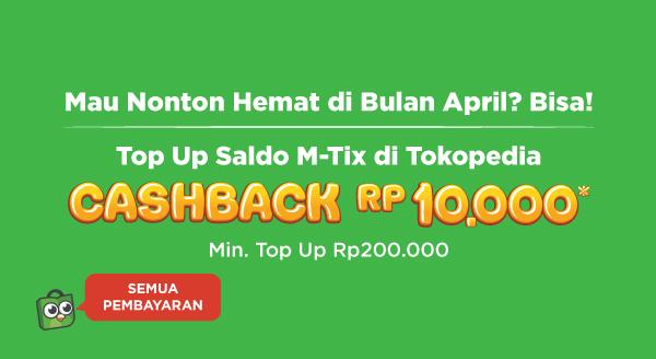 Top Up MTIX dapat cashback !