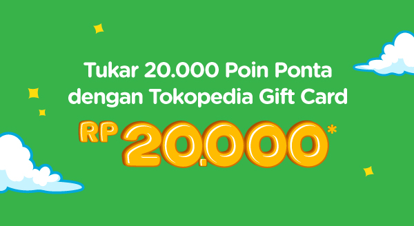 Tukarkan Poin Ponta-mu dengan Tokopedia Gift Card!
