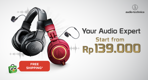Koleksi Audio Technica Kini Hadir di Tokopedia Official Store
