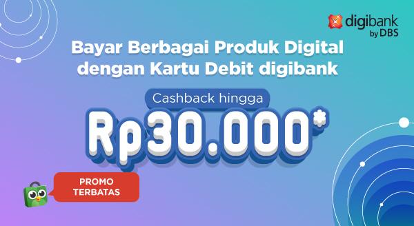 Bayar Produk Digital Pakai Debit Digibank, Cashback!