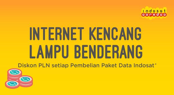 Diskon saat bayar PLN setiap Pembelian Paket Data Indosat!